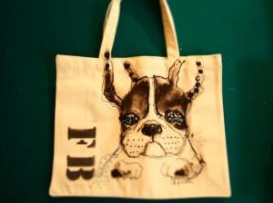ペットの似顔絵バック  トートバックMサイズ 【Art Bagシリーズ  iLodori aico】オーダーメイド--8