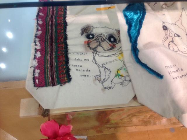 ペットの似顔絵バック 【Art Bagシリーズ  iLodori aico】オーダーメイド トートバックLONGサイズ..2