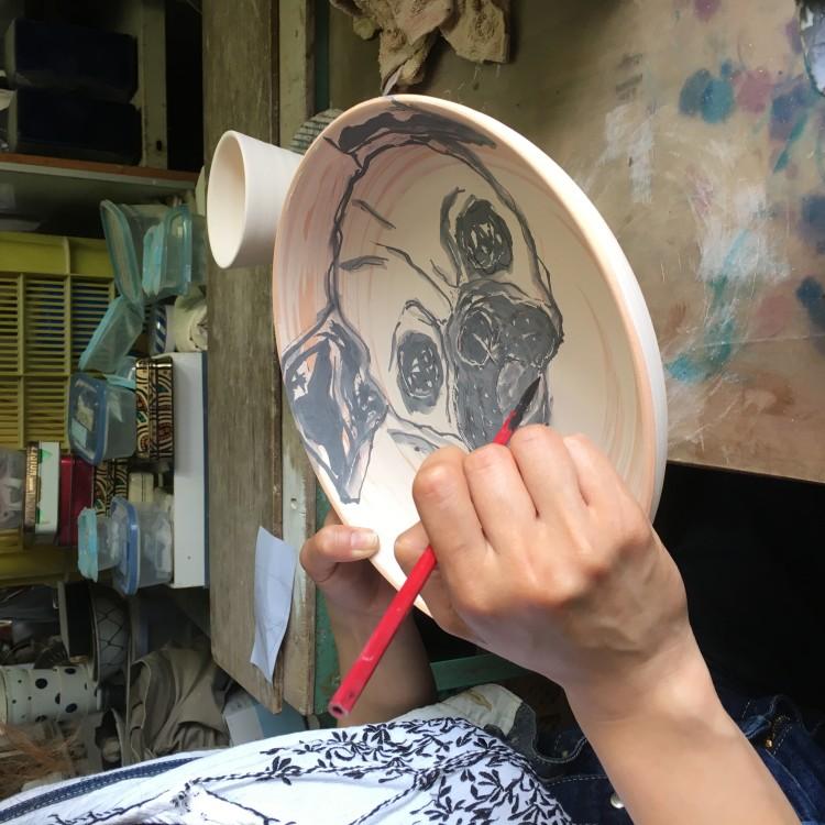フレンチブルドッグ 皿 サイズ直径9cm--2