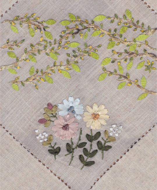 小枝と花束