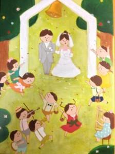 森の結婚式 ウェルカムボード