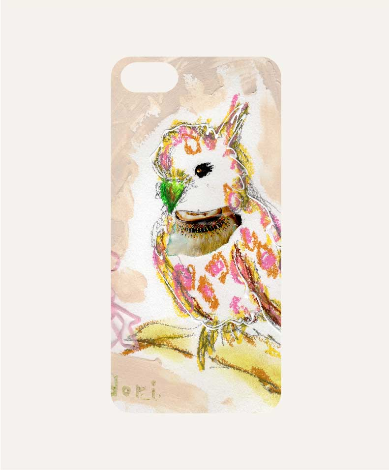 iPhone ケースカバー インコピンク(彼女)