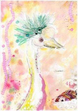 Postcard-白鳥