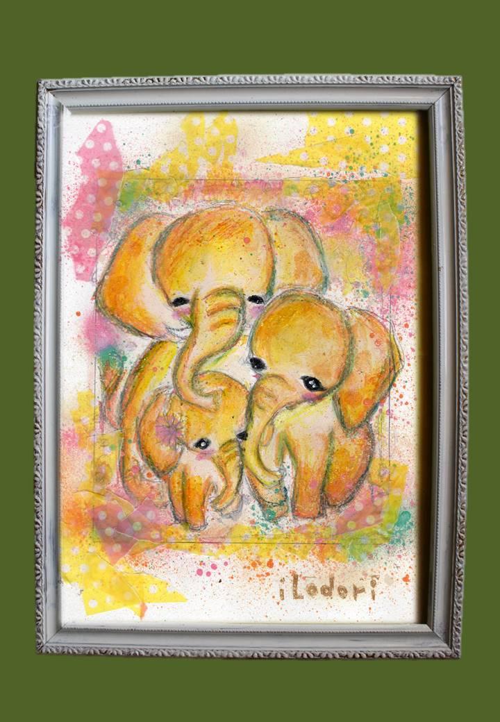 ArtBoard-ゾウの家族