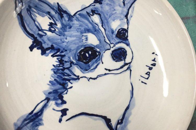 想い出のペットで作る似顔絵皿(深皿24cm)