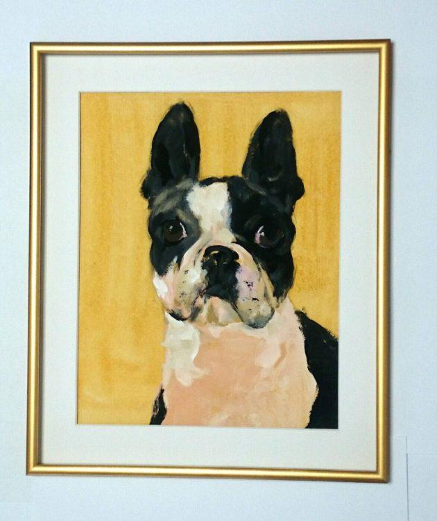 犬の似顔絵Art Board ペットメモリアル 作家Wattin