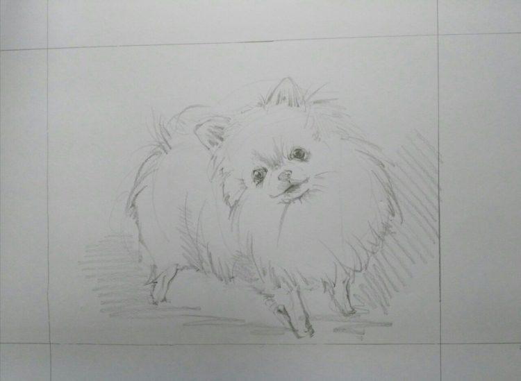 犬の似顔絵Art Board ペットメモリアル 作家Wattin--2