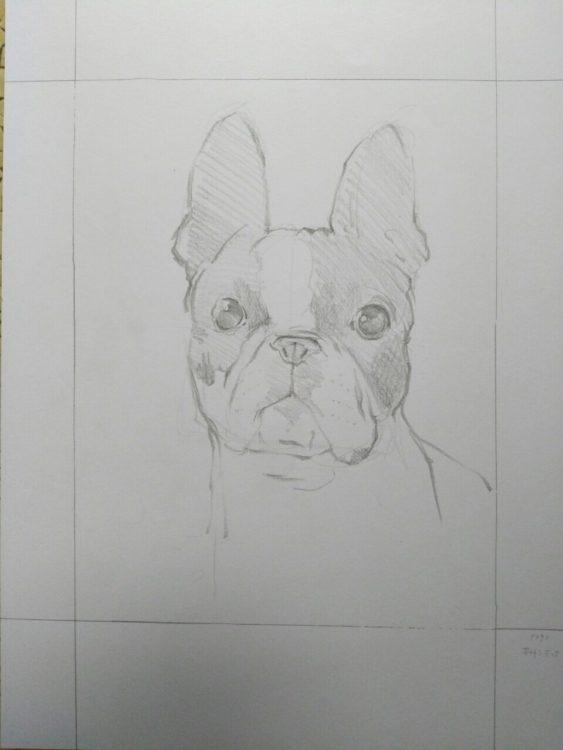 犬の似顔絵Art Board ペットメモリアル 作家Wattin--1