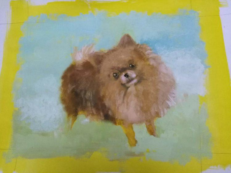 犬の似顔絵Art Board ペットメモリアル 作家Wattin--3